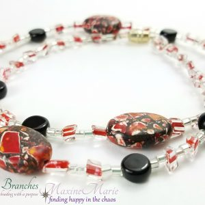 Classic Red, White and Black Necklace by Coleen