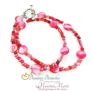 Crimson Drops Necklace by Coleen