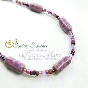 Purple Porcelain Dream Necklace by Coleen